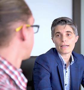 Image of business people talking video screenshot